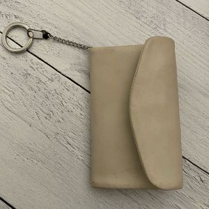NWT HOBO Wallet Tan Cream Ivory